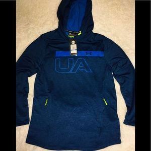 Under Armour Dark Water Blue LS Men's Hoodie sz XL